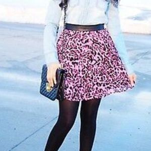 Forever 21 Pleated Leopard Print Skirt - Sz L